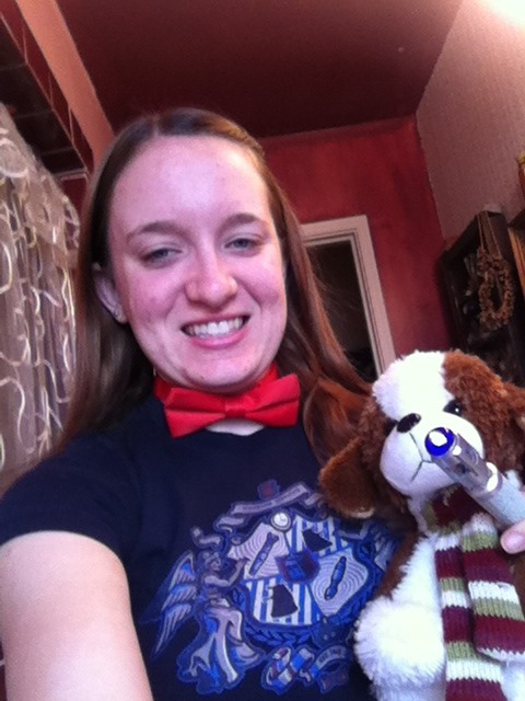 Baker (aka the 4th Dogtor) and I are ready for Doctor Who tonight!