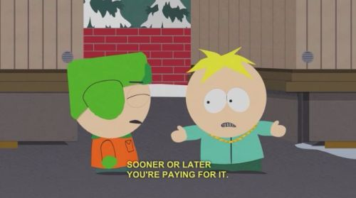 lyriciss:  doncheftw:  Butters breaks the game down  Butters knew life more than anyone.
