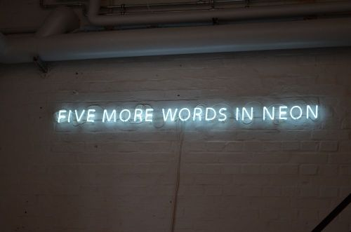 prunkge:  Five More Words In Neon.