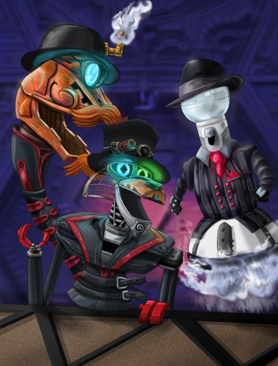 Steam Powered Mystery Science Giraffe Theater 3000 by Andrew Colunga