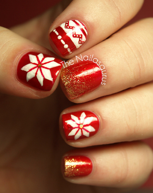 thenailasaurus:  The Nailasaurus: Christmas Jumper-y