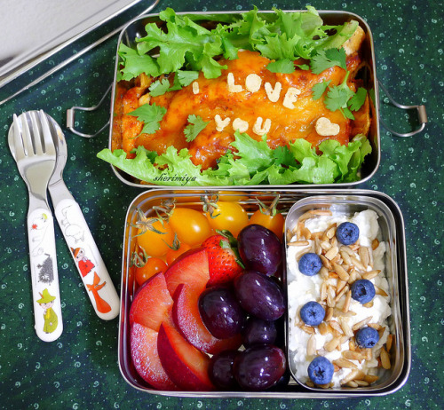 ohmyhealthyfood:  Enchiladas of Love Bento by sherimiya ♥ on Flickr.