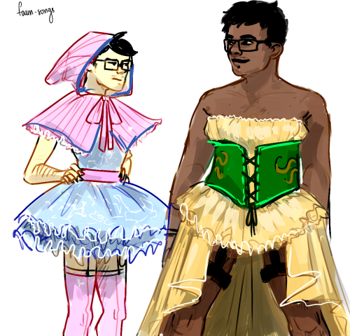 spaceeyes answered:  boys in frilly dresses    who am i to disagreejohns just pissed bc he got the 'baby' colours