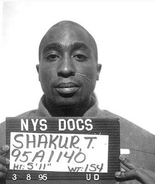 If you didn't know, Tupac spent 10 days in prison for beating another rapper with a baseball bat….true thug life.