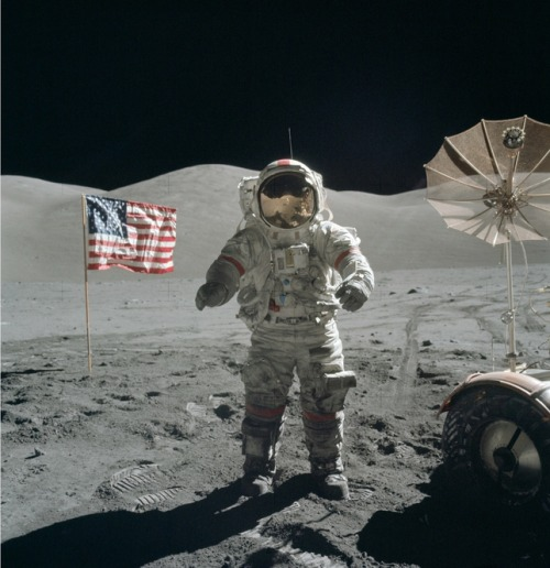 Forty years ago this week, Eugene Cernan and Jack Schmitt were the last two humans to stand on the moon. It's time to go back. Photo of the Day: The Last Man Standing on the Moon credit: Nasa via Wikipedia