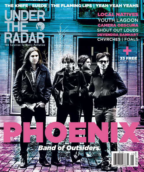 New issue of Under the Radar. I spoke with Telekinesis, DIANA, Youth Lagoon, and Camera Obscura (via Under the Radar Announces the Winter 2013 Issue Featuring Phoenix on the Cover | Under The Radar)