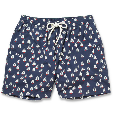 "streetstylemarket:  Faconnable Mid-Length Boat-Print Swim Shorts | MR PORTER  ""Sailor"" shorts"