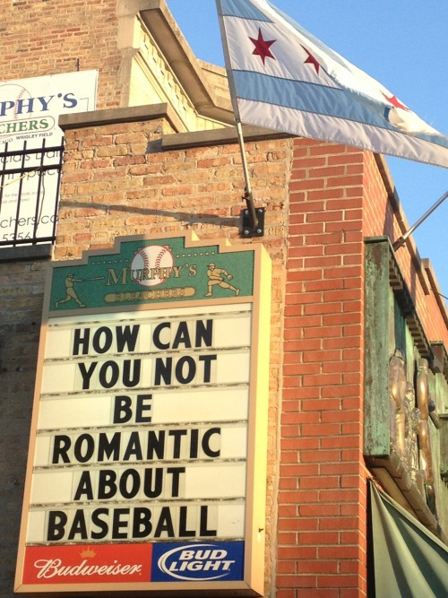 onehundreddollars:  I'm actually romantic with baseball. It's getting pretty serious.