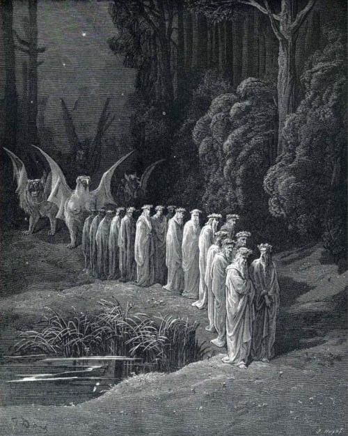"r-is-for-raven:  v3l3nomortale: Gustave Dorè illustrazione dal ""Purgatorio"""