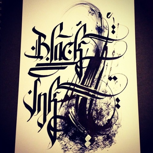 grafflicks:  BLACK INK