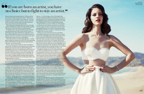 mirnah:  Lana Del Rey turns up the glam for Fashion Magazine's Summer 2013 cover story