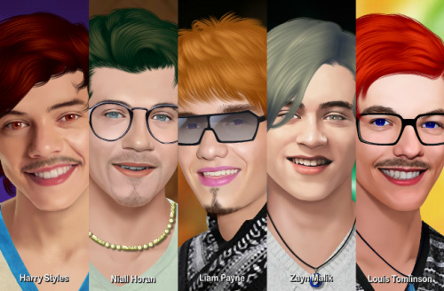 Just gave one direction a makeover…flawless boyzzz!