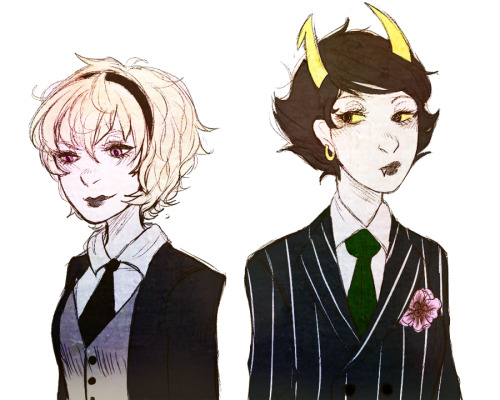arithedreamer:  classy ladies in suits