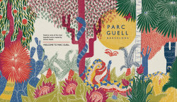 rachaelsaundersillustration:  Cover design for my new project on Parc Guell, BCN.