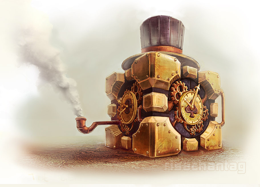 ianbrooks:  Steampunk Portal by Lisa Rye From The Aperture Institute of Natural Philosophy comes the astounding new line of marvelous gizmos, perfectly suited for the top-hatted gentleman scientist and all his testing inquiries.  Artist: Deviantart / Tumblr