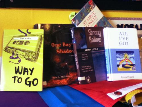 Our small but mighty collection of LGBTQ books that have local content. These all take place in Nova Scotia!