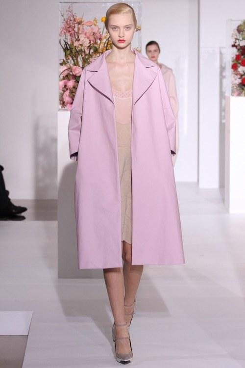 jil sander runway fashion dress pink light pink feminine girly mine