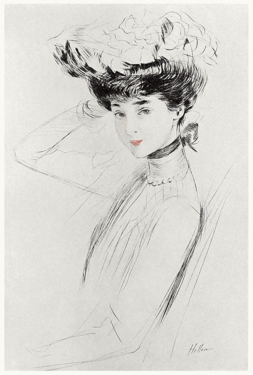 Portrait study of the duchess of Marlborough.  Paul Helleu, from Paul Helleu, peintre et graveur (Paul Helleu, painter and engraver), by Robert de Montesquiou, Paris 1913.  (Source: archive.org)
