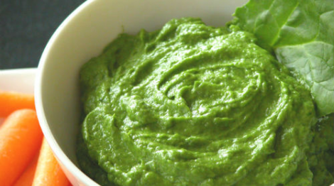 Spinach Avocado Dip Trying to eat more raw vegetables? The secret is dip! This is by far my favorite homemade dip for raw veggies (My boyfriend's obsession) and it's crazy delicious on chicken for you paleo folk.