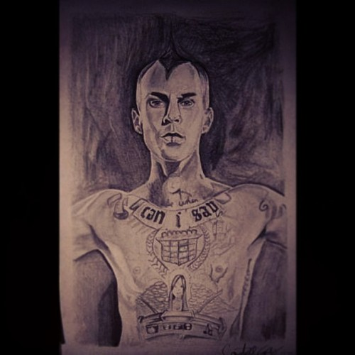 Travis Barker drawing.