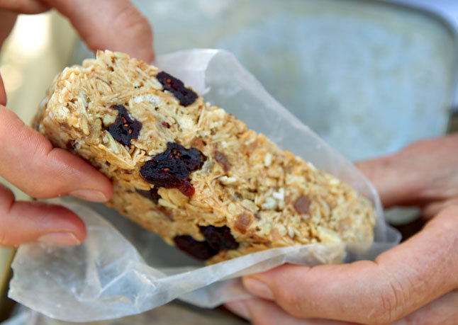 Granola Bars with Marshmallows, Nuts, Cranberries, and…Cracklin'?