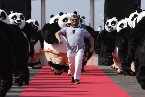 the-feral-one:  chandeluresinsicily:  JACK BLACK IS LITERALLY LEADING AN ENTIRE ARMY OF PO COSTUMES HOW IS THIS PICTURE NOT ALL OVER TUMBLR  One of the reasons why Jack Black's my favorite actor.