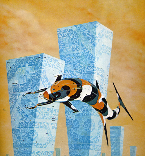 Untitled painting by Colin Hay from Harry Harrison's book 'Mechanismo' (1978)