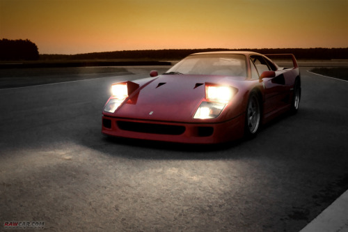 Beacon Starring: Ferrari F40 (by RawCar.com Photography)
