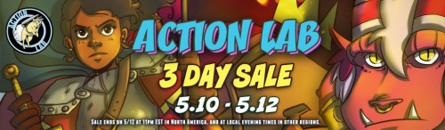Win a prize! Reblog this post about the Action Lab sale on Comixology between now and Sunday and you're eligible for a drawing! Win the drawing and get a commission of the Princeless character of your choice from Princeless Artist Emily C Martin!Friday, May 11th - Saturday May 12th - Sunday May 13thAction Lab and Comixology bring you a three day sale. All single issues are 99 cents. All OGN's are $2.99. This includes Princeless, Double Jumpers, Fracture, NFL RushZone and all other current titles!http://www.comixology.com/Action-Lab-Sale/comics-collection/1152