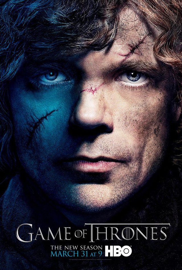 justinrampage:  Game of Thrones Season 3 Trailer & Posters Showing Cast's Dark Side Game of Thrones released a new extended version of the season 3 trailer and a series of posters via Twitter that show an eerie dark side of characters from HBO's television series. It is set to premiere on March 31, 2013. Wallpaper versions of each poster are available to download online from the official Game of Thrones website. You can view all 12 posters via my post on Laughing Squid.  via Laughing Squid