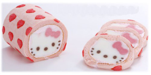 New Hello Kitty roll cakes… a face in every slice!