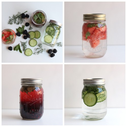 truebluemeandyou:  DIY 3 Fruit Herb Infused Water Recipes from Free People Blog here. For DIY Freezer Smoothie Packs and Recipes go here and lots of DIY Naturally Flavored Herb and Fruit Water Recipes from the Yummy Life here. Watermelon and Cilantro Infused Water Blackberry and Mint Infused Water Cucumber, Cilantro, and Dill Infused Water