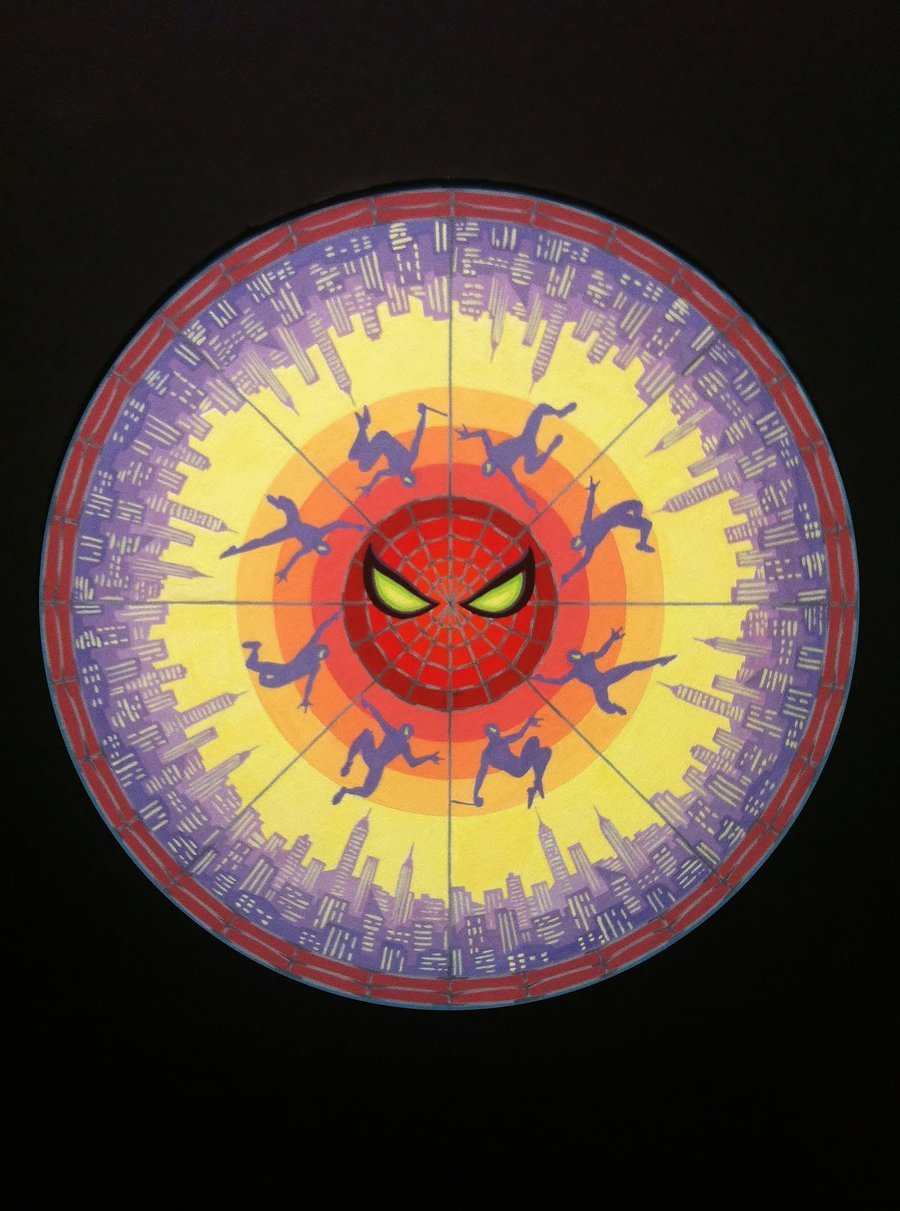 Spider-Man Mandala by Sam Shin
