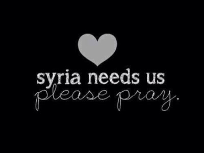 pray4syrian:  Please keep Syria and its people in your prayers.
