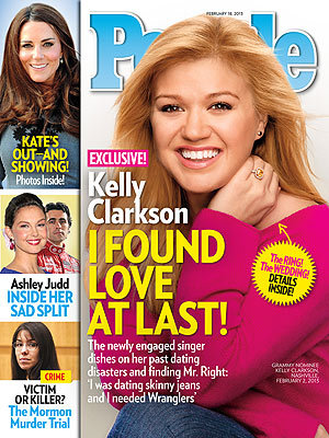 """I was dating skinny jeans and I needed Wranglers."" -Kelly Clarkson, on fiancé Brandon Blackstock, in this week's PEOPLE."