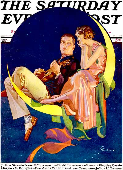 maudelynn:  E M Jackson cover for The Saturday Evening Post c.1930