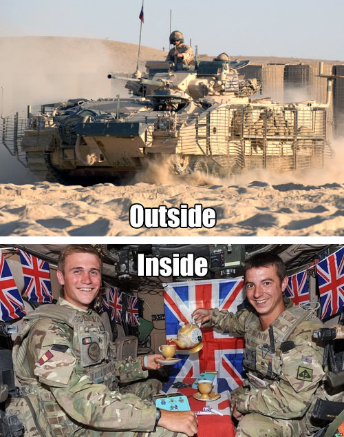 niknak79:  The Inside of a British Tank