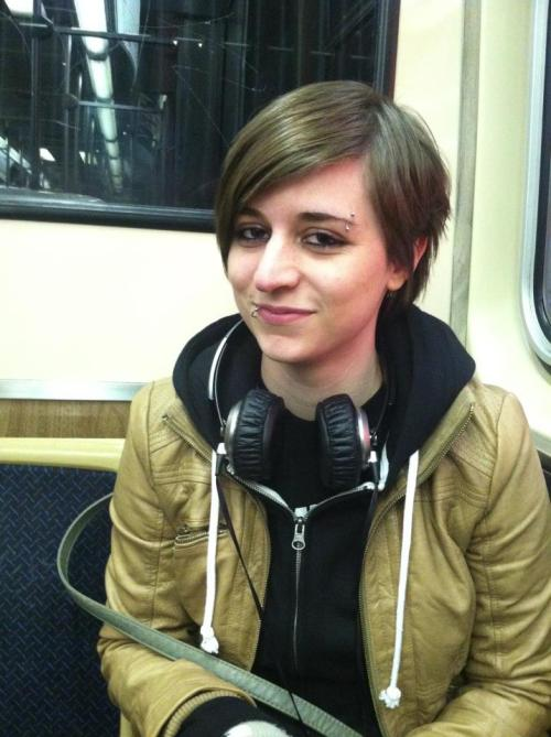 here have a picture of me on the subway (: