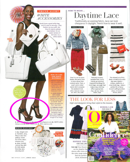 Check out Georgette in the April issue of Oprah Magazine