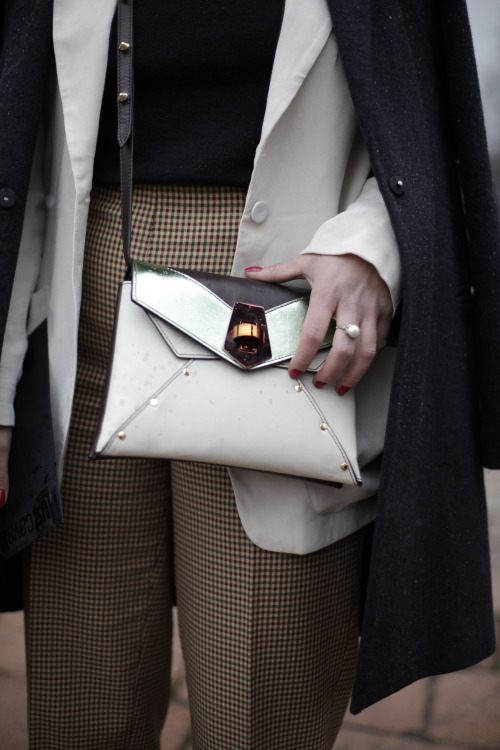 Buckle up! #MFW #StreetStyle WGSN Street Shot, Milan Fashion Week