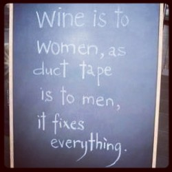 paperbackreiter:  For all my wine-loving lady friends. #wine #miggylikeswine