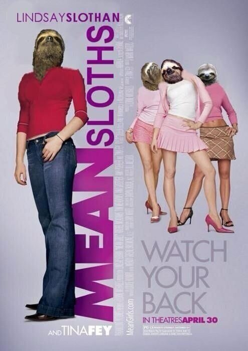 Dear Mean Sloths, And I thought you guys were so cute. From your friend*, Zoe *Are we still friends? WB :) xo