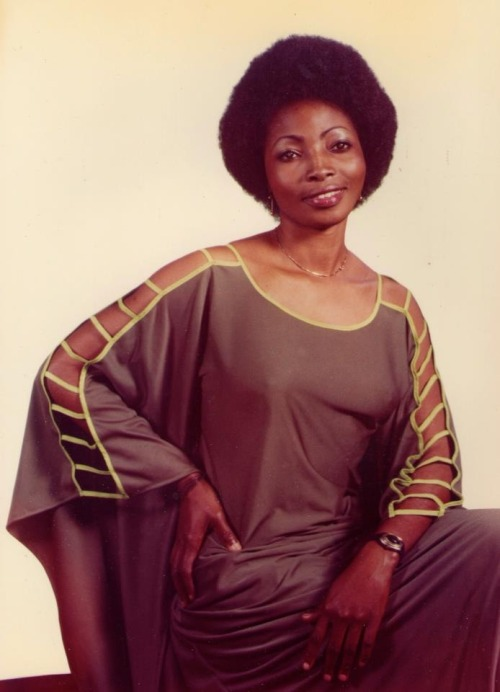 "READER SUBMISSION  ""This picture of my mother was taken in 1979 in Kinshasa, Congo DR. She is a mukongo from the Bakongo people.""  submitted by Mavonda"
