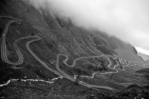 Transfăgărășan, Southern Carpathians, Romania. I want to ride to there.