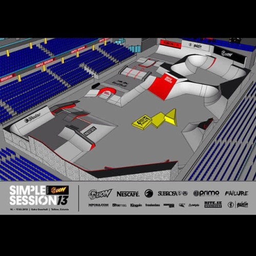 #Preliminary #draft #ramp #on #simple #session #2013  #march #simplesession #warsaw #estonia #tallinn #place #bmx #skate #trick #contest #course #unreiled #lion #subrosa #prima #quintin #failure (w miejscu: Multimedialny Park Fontann)