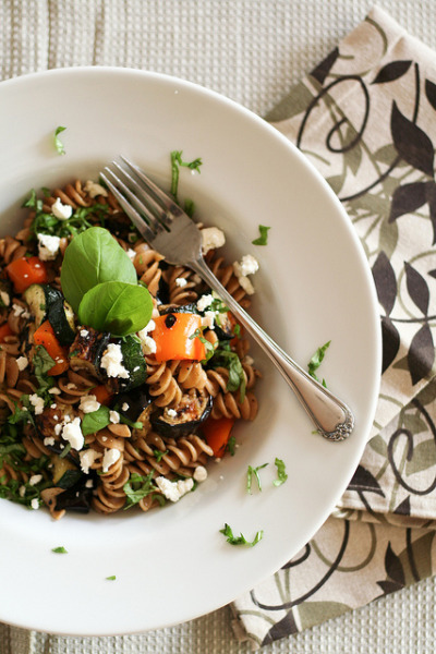 Grilled  Vegetables Summer Pasta-6 by Sonia! The Healthy Foodie on Flickr.