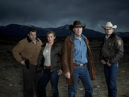 kateefan:  Longmire Season 2 promotional picture added http://kateesackhoff.info/gallery/thumbnails.php?album=463  Whoo! Finally an official cast photo. Only wish they could've worked Lou in too.