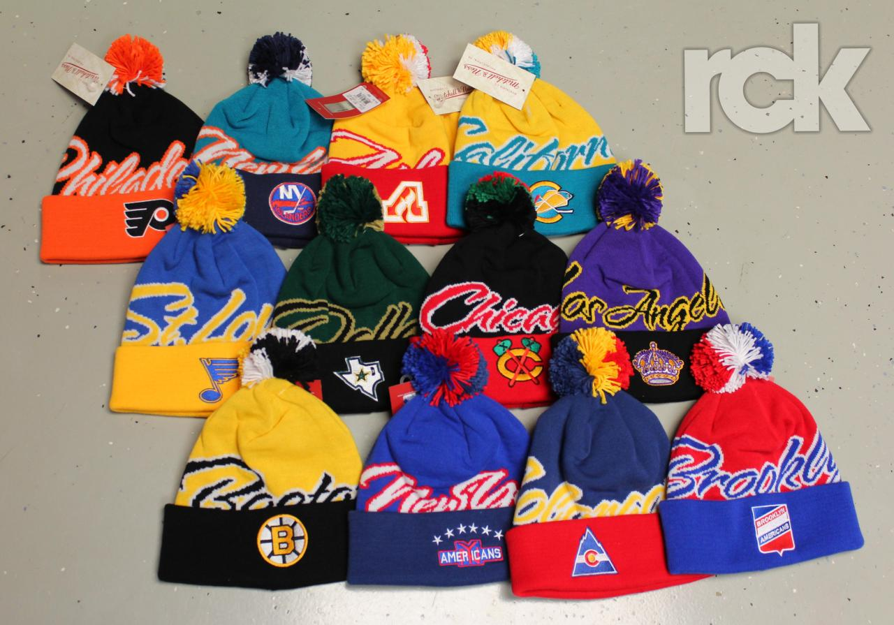 New Mitchell & Ness NHL beanies are in! $30