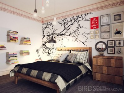 homedesigning:  (via Modern Bedroom Ideas)