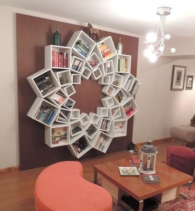diy mandala bookshelf | Brain Waves on We Heart It - http://weheartit.com/entry/59928281/via/dipuandhermind   Hearted from: http://pinterest.com/pin/125467539591500986/